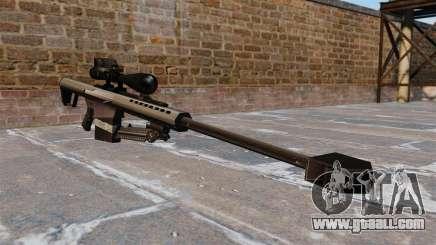The Barrett M82 sniper rifle 50 Cal for GTA 4