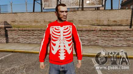Red Sweater-skeleton- for GTA 4