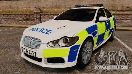 Jaguar XFR 2010 British Police [ELS] for GTA 4