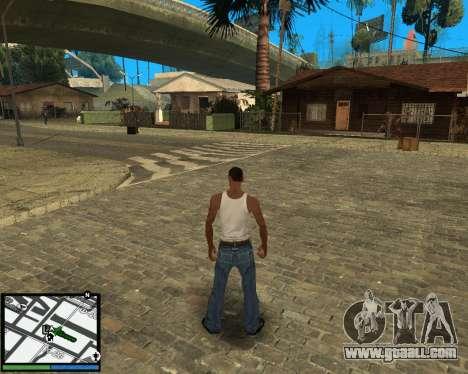 GTA V hud for GTA San Andreas