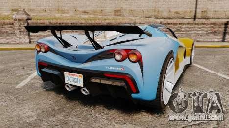 GTA V Grotti Turismo R for GTA 4 back left view