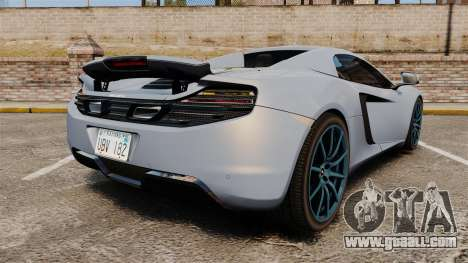 McLaren MP4-12C Spider 2013 for GTA 4 back left view