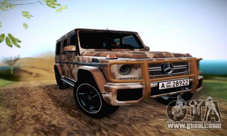 Mercedes Benz G65 Army Style for GTA San Andreas