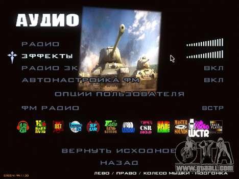 Menu World of Tanks for GTA San Andreas sixth screenshot
