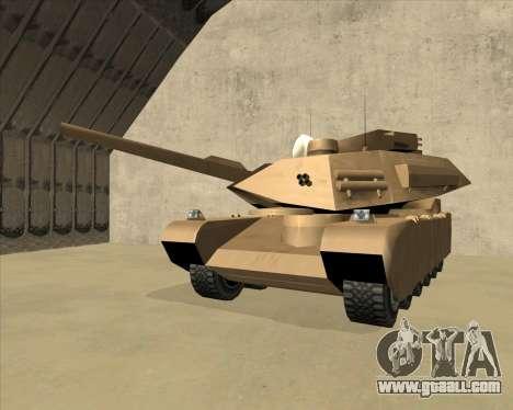Rhino Mark.VI for GTA San Andreas inner view