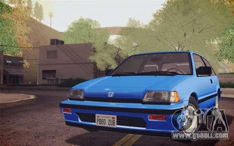 Honda Civic S 1986 IVF for GTA San Andreas back left view