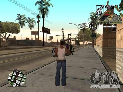 C-Hud Army by Enrique Rueda for GTA San Andreas third screenshot