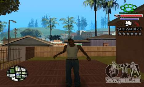 C-HUD Gangster by NickQuest for GTA San Andreas third screenshot