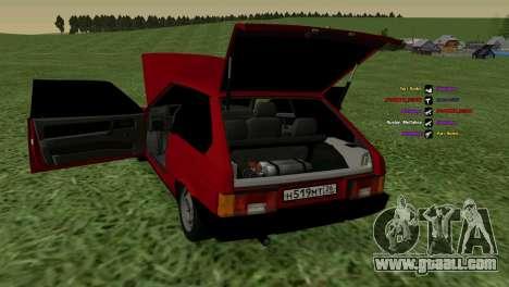 VAZ-2108 for GTA San Andreas inner view