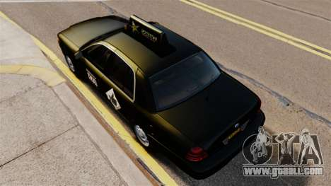 Ford Crown Victoria Cab for GTA 4 right view