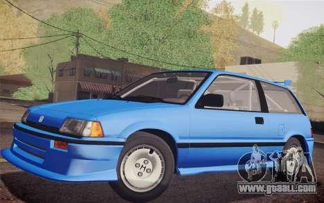 Honda Civic S 1986 IVF for GTA San Andreas back view