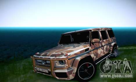 Mercedes Benz G65 Army Style for GTA San Andreas inner view
