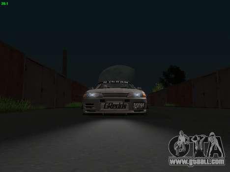 Nissan Skyline BNR32 for GTA San Andreas back view