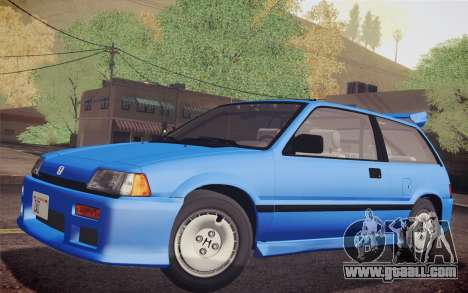Honda Civic S 1986 IVF for GTA San Andreas right view