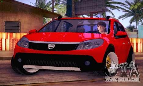 Dacia Sandero for GTA San Andreas inner view