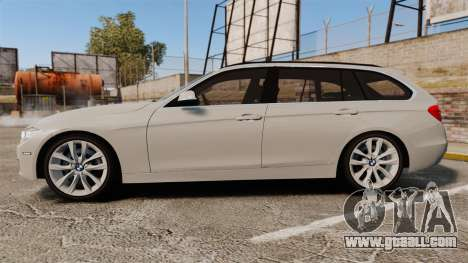BMW 330d Touring (F31) 2014 Unmarked Police ELS for GTA 4 left view