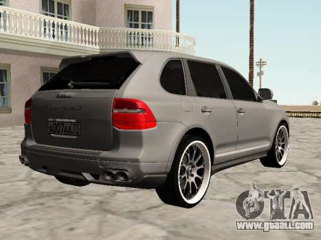 Porsche Cayenne Turbo S for GTA San Andreas back left view