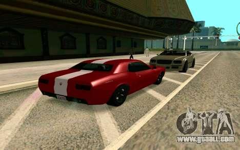 GTA V Gauntlet for GTA San Andreas back left view