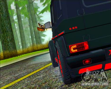 Mercedes-Benz G65 Hamann 2013 for GTA San Andreas back left view