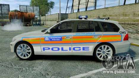 BMW 330i Touring Metropolitan Police [ELS] for GTA 4 left view