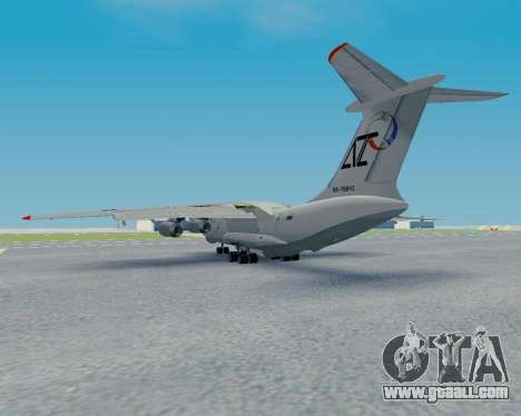 Il-76TD Aviacon zitotrans for GTA San Andreas back view