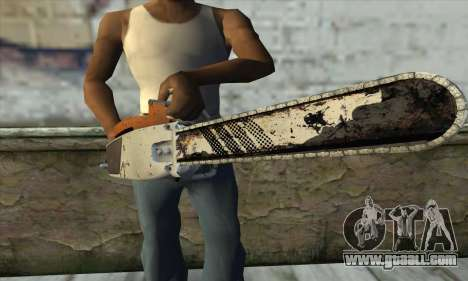 Chainsaw from L4D2 for GTA San Andreas third screenshot