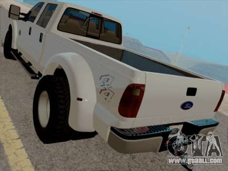 Ford F450 Super Duty 2013 for GTA San Andreas back left view