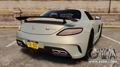 Mercedes-Benz SLS 2014 AMG Black Series for GTA 4 back left view