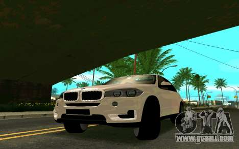 BMW X5 F15 for GTA San Andreas back left view