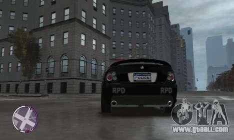 Holden Monaro CV8-R Police for GTA 4 inner view