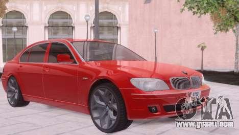 BMW 750Li E66 for GTA San Andreas