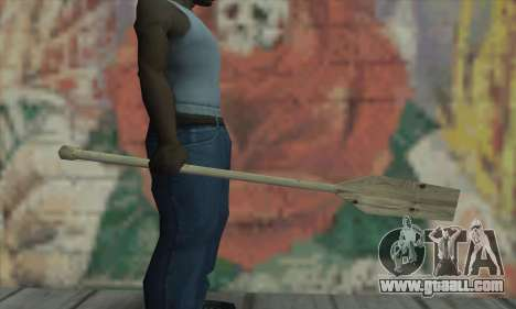 The wooden paddle for GTA San Andreas second screenshot