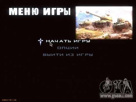 Menu World of Tanks for GTA San Andreas second screenshot