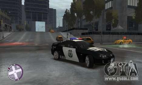 Holden Monaro CV8-R Police for GTA 4 right view