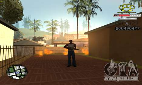 C-HUD Gangster by NickQuest for GTA San Andreas second screenshot