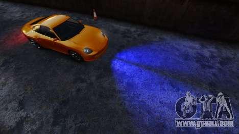 Blue headlights for GTA 4