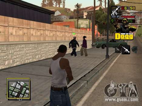 C-HUD Snoop Dogg for GTA San Andreas third screenshot