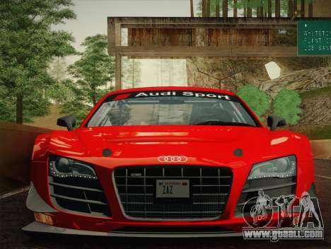 Audi R8 LMS Ultra W-Racing Team Vinyls for GTA San Andreas back left view