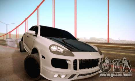 Porsche Cayenne for GTA San Andreas upper view