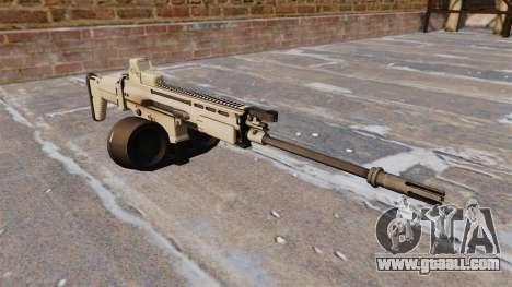 Automatic rifle FN SCAR-H LMG for GTA 4