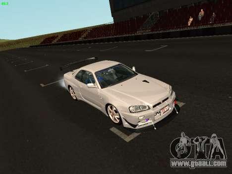 Nissan Skyline BNR34 for GTA San Andreas