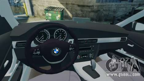 BMW 330i Touring Metropolitan Police [ELS] for GTA 4 inner view