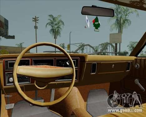 Dodge Aspen for GTA San Andreas inner view