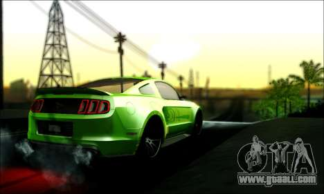 Ford Mustang GT 2013 v2 for GTA San Andreas left view