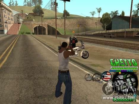 C-HUD Ghetto Life for GTA San Andreas third screenshot
