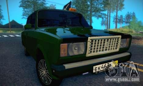 VAZ 2107 VDV for GTA San Andreas inner view