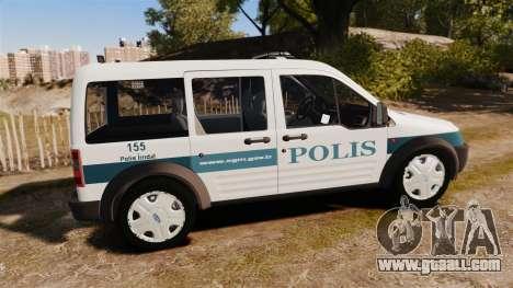 Ford Transit Connect Turkish Police [ELS] v2.0 for GTA 4 left view