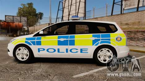 Ford Focus Estate Essex Police [ELS] for GTA 4 left view