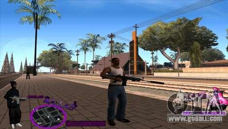 C-HUD Ballas by HARDy for GTA San Andreas