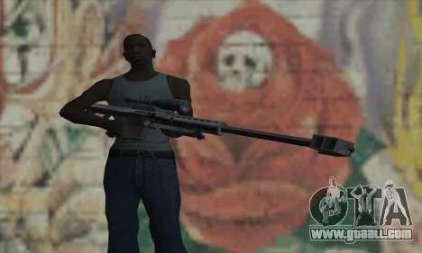 M82A1 Barret .50cal for GTA San Andreas third screenshot